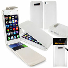 Fundas con tapa color principal blanco para teléfonos móviles y PDAs