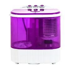 Mini Portable Washing Machine Compact Twin Tub Laundry Washer 10lbs Spin Dryer