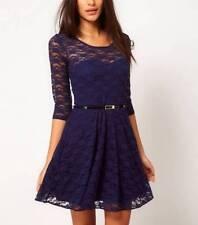 Vestiti da donna Blu Floreale Misto cotone