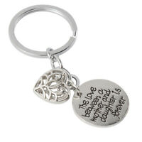 Key Chain Love Heart Pendant Keychain Ring for Mother's Day Christmas Gift