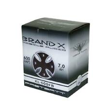 Brand-X Xl-600Fb Car Audio 600 Amp Fast Battery / Capacitor Combo - Satin Chrome