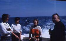 Original Vintage 1960s Negative / 35mm Slide- Fishing Boat- Women's Fashion