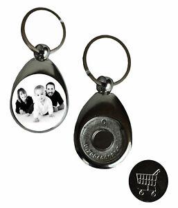 Personalisierter Schlüsselanhänger mit Foto Einkaufschip Glücksbringer Geschenk