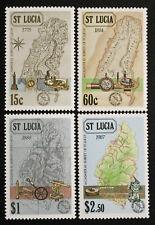 Timbre SAINTE LUCIE - Yvert et Tellier n°870 à 873 n** Mnh (Cyn31) Stamp