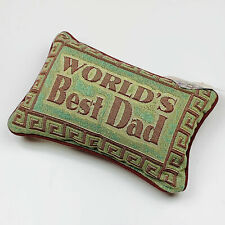 World's Best Dad ~ Father's Day Tapestry Word Pillow