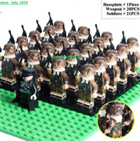 21 Pcs Minifigures lego MOC WW2 Army Soldiers Italian - Franch Weapons 2020 Toys