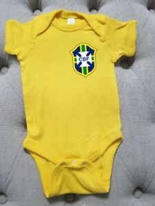BRAZIL / BRASIL SOCCER Baby  6-9 months  add your baby's name free.