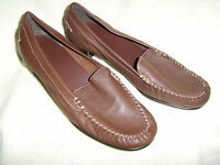 Marks and Spencer Footglove Tan Soft Leather Court Shoes Size 6 Wider Fit