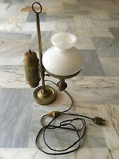 LAMPE ANCIENNE OPALINE VINTAGE CUIVRE ET/OU LAITON