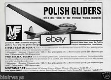 MOTOIMPORT WARSAW POLAND 1967 POLISH GLIDERS SINGLE/ 2 SEATER FOKA-4 & BOCIAN AD