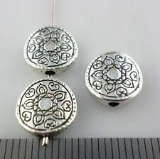 12pcs Tibetan Silver Oblate Flower Spacer Beads 3x10mm Jewelry Bracelet Beading