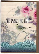 Papaya Art  ' You Make Me Happy ' Blank Fine Art  Greeting Card