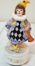 Vintage 1986 Schmid Porcelain Music Box Clown Made in Japan Howard Kaplan