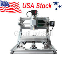Mini CNC 1610 + 500mw Laser CNC Engraving Machine PCB Milling Wood Router USA