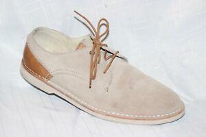Clarks Originals Beige Suede Oxfords Lace Up Casual Shoes Men 11 M