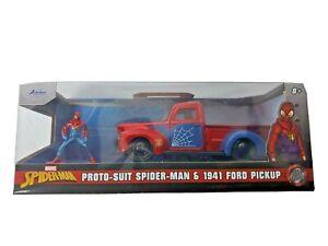 Jada 1:32 Marvel Spiderman Proto-Suit Spider-Man & 1941 Ford Pickup New In Box