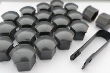 22 Piece - Premium Tesla Lug Nut Caps Covers w/tool in Gray Gunmetal (for S 3 X)