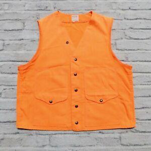 Vintage Filson Hunting Vest Made in USA Safety Orange