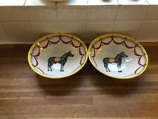 More details for royal stafford - circus zebra cereal bowls x 2 - brand new.