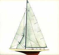 1937 Americas Cup Ranger Steel J Sloop Melbourne Smith Lithograph Antique Print