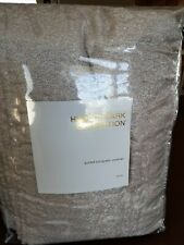 Hudson Park PIETRA QUEEN Quilted Coverlet CHAMPAGNE NEW $400