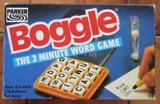 BOGGLE by Parker - 1992 version - Plastic cubes - Complete & VGC