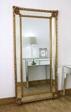 "Tabatha Gold Ornate Beaded Leaner Floor Mirror 71"" x 37"" (180 x 94cm)"