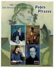 MODERN GEMS - Maldives - Pablo Picasso - Sheet Of 4 - MNH