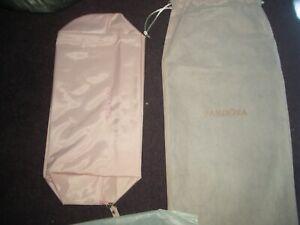 pandora pink make-up clutch bag with storage bag
