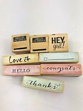 HEY GIRL!, Rubber / Wood Mounted, Stamps, Set of 8, Card Making, Journaling
