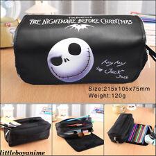 Nightmare Before Christmas Pencil Case pen bag Canvas makeup Bag Stationery Bag