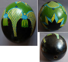 Gros oeuf d'autruche peint egg