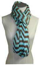 Scarfands CHEVRON SHEER INFINITY SCARF ONE SIZE MINT GREEN/BROWN Zig Zag