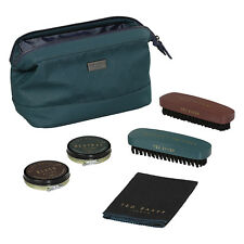 Ted Baker - 5 Piece Shoe Shine Kit in Teal Green Zip Case