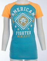 AMERICAN FIGHTER Womens T-Shirt KENDALL Athletic Biker  Sinful $40 NWT