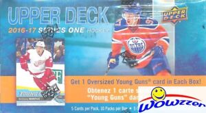 2016/17 Upper Deck Series 1 Hockey SPECIAL Factory Sealed Box-JUMBO YOUNG GUN !