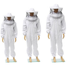 Beekeepers Bee Keeping Cotton Full Protector Suit With Veil Hat Hood Bee Suit