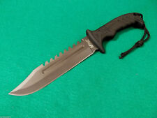 "MTech MT-20-57BK Black Sawback Bowie fixed blade knife 12 1/2"" overall MT2057BK"