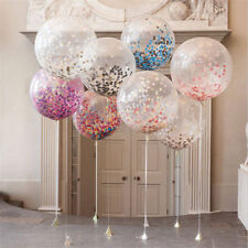 5pcs Clear Confetti Filled Balloons Birthday Home Party Wedding Decorations