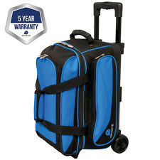 Ebonite Transport II Black/Blue 2 Ball Roller Bowling Bag