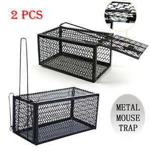 2x Mouse Rat Catcher Cage Trap Humane Live Animal Pest Control Indoor Outdoor UK