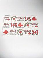 Remembrance Day Stickers Canadian Flag Holiday Highlights for Children 1999