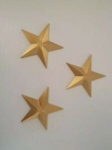 (Pack of 3) Walming Golden Star Hanging Wall Decoration wall Hanging Decor