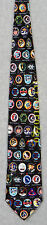 EARLY SPACE MISSIONS NASA APOLLO GEMINI SKYLAB Museum Artifacts Silk Necktie NEW