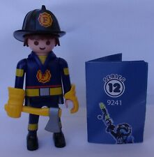 Playmobil  Mystery Series 12 Boys   Fireman   #9241   Mint Condition
