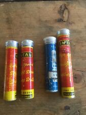 4 VINTAGE INTAL TUBES OF DRILL BITS