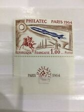 Timbre YT 1422 - 1 Fr Philatec Paris 1964 - seul avec vignette - issu du BF06