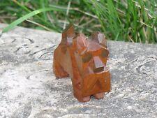 "Antique Hand Carved Wood Scottie Terrier Dog Block Style Figurine Statue 1.5"""