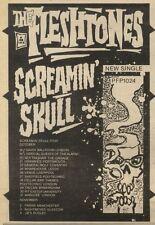29/10/83PN26 ADVERT: THE FLESHTONES SINGLE SCREAMIN SKULL 7X5