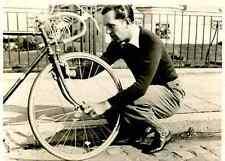 JEAN AERTS 1930s Cyclisme Cycling Foto Ciclismo cylist vélo bike réglage pneu